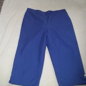 Purple Capris with Leg Cutouts Alfred Dunner Sz18